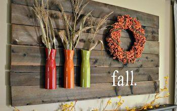 my fall mantle 2014, diy, fireplaces mantels, seasonal holiday decor, wall decor