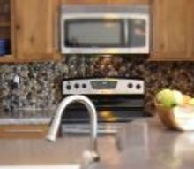 simple backsplash idea, diy, kitchen backsplash, kitchen design, repurposing upcycling