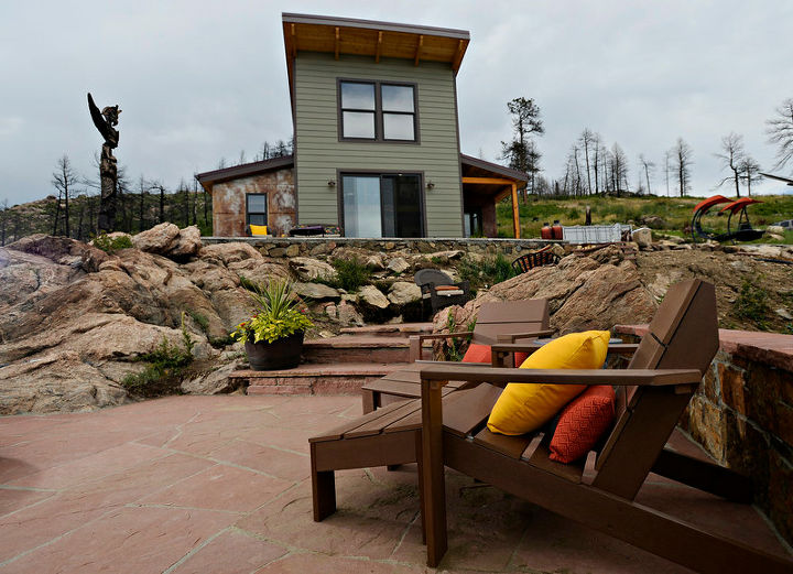 a fire destroyed their dream home forcing this couple to rebuild, architecture, go green, home improvement