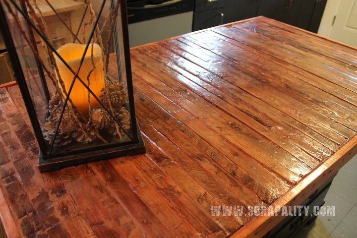 Reclaimed Dresser Into Kitchen Island With Pallet
