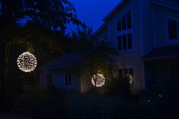 lights outdoor orbs hanging building tutorial, crafts, lighting, repurposing upcycling