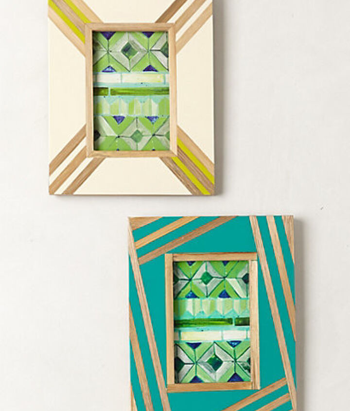 anthropologie bamboo inlay frame knock off, crafts, home decor, wall decor