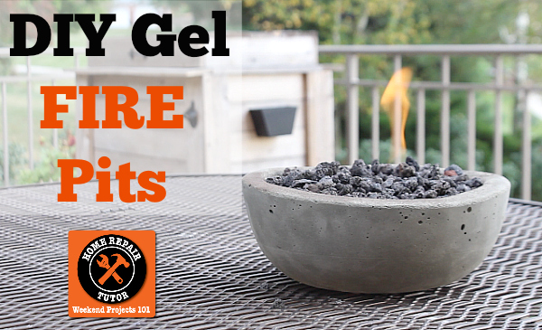 diy gel cement mini fire pits table tops, crafts, diy, outdoor living