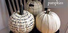 white sharpie pumpkins easy fall decor, crafts, halloween decorations, seasonal holiday decor