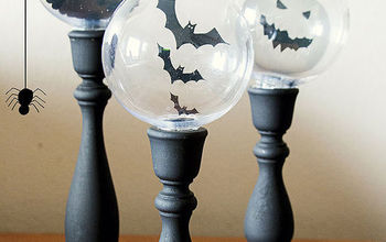 DIY Halloween Crystal Ball Candlesticks. Not so Scary!