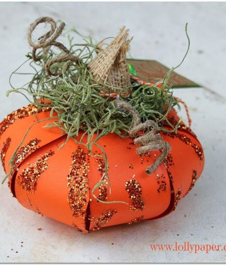 3 d paper pumpkin tutorial with silhouette cameo, crafts, seasonal holiday decor