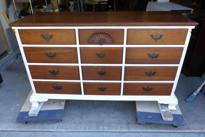classy white and cherry dresser  chalk paint  painted furniture. Classy White and Cherry Dresser   Hometalk