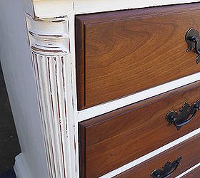 Lovely Classy White And Cherry Dresser, Chalk Paint, Painted Furniture