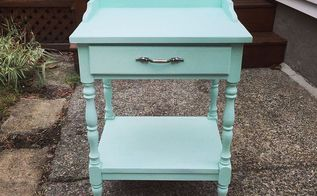 painted furniture end table mint makeover, diy, painted furniture, repurposing upcycling, shabby chic