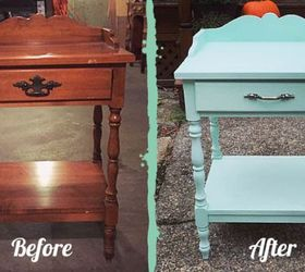 Good Painted Furniture End Table Mint Makeover, Diy, Painted Furniture,  Repurposing Upcycling, Shabby
