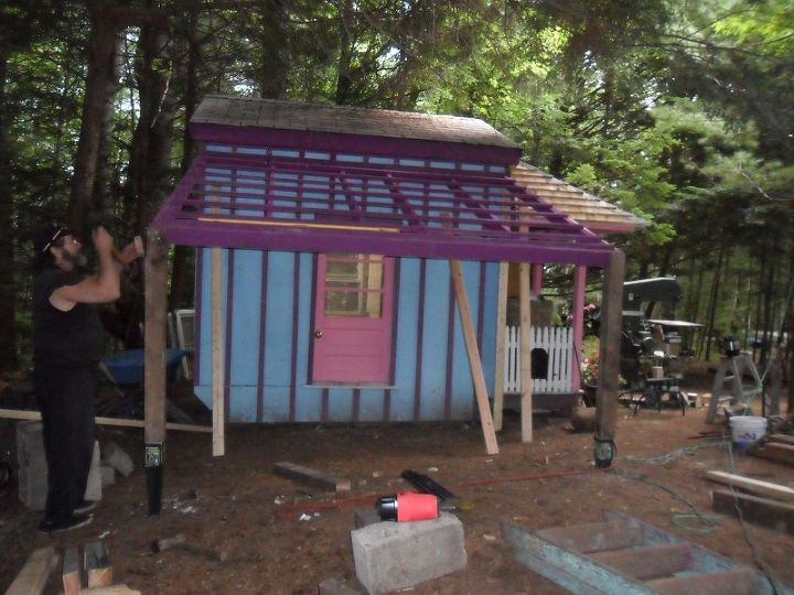A Diffe Twist To Constructing Plastic Panel Patio Roof Diy Roofing