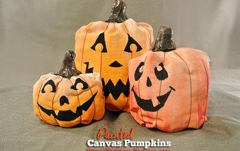 DIY Canvas Painted Pumpkins