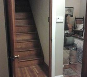 painted staircase steps attic furnished bedroom ideas home maintenance repairs & Painted Sayings on Attic Steps | Hometalk