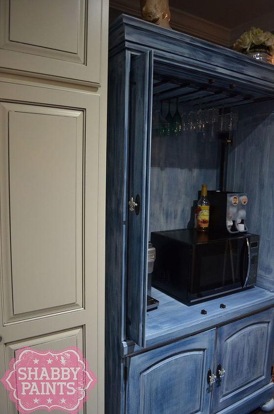 tv entertainment center repurposed kitchen pantry coffee bar, closet, entertainment rec rooms, kitchen design, outdoor living, painted furniture