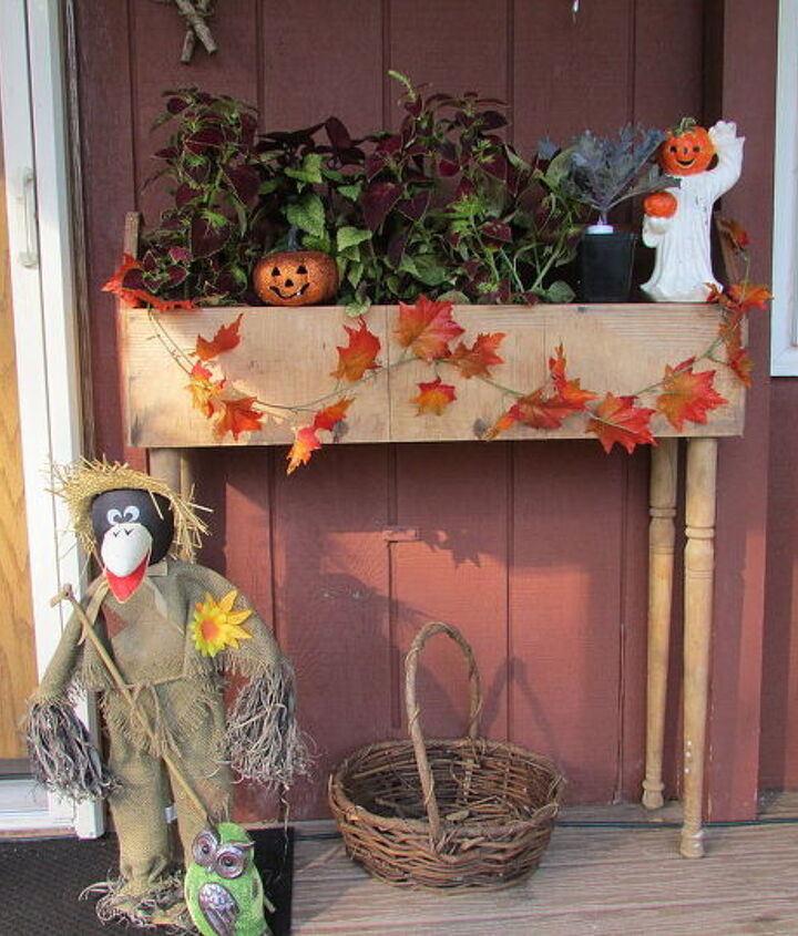 Old Wooden Toolbox Fall Planter Hometalk