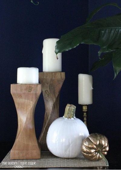 fall modern decor crafts pumpkins spray paint, halloween decorations, home decor, seasonal holiday decor