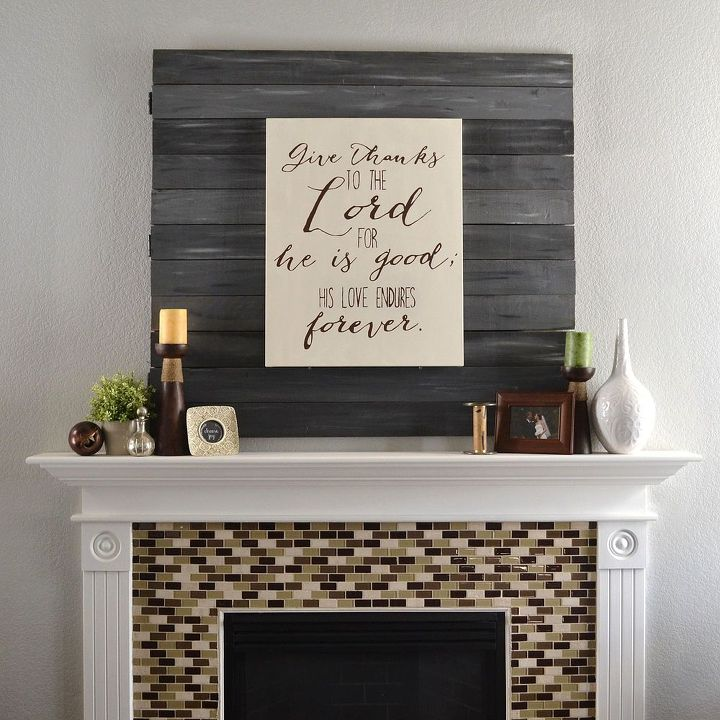 Simple Undecorated Fall Mantel Hometalk