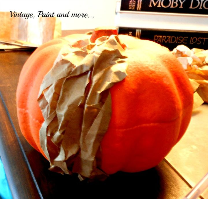 crafts fall lunch bag pumpkins repurpose, crafts, halloween decorations
