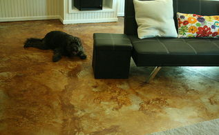 concrete flooring staining etching, concrete masonry, flooring, painting