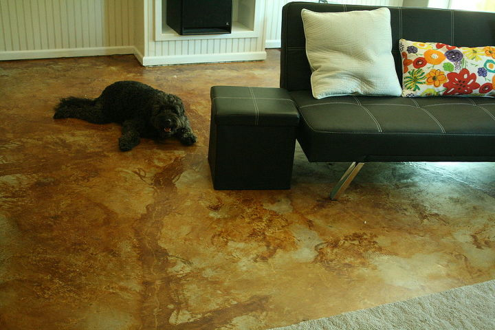concrete flooring staining etching, concrete masonry, flooring, painting