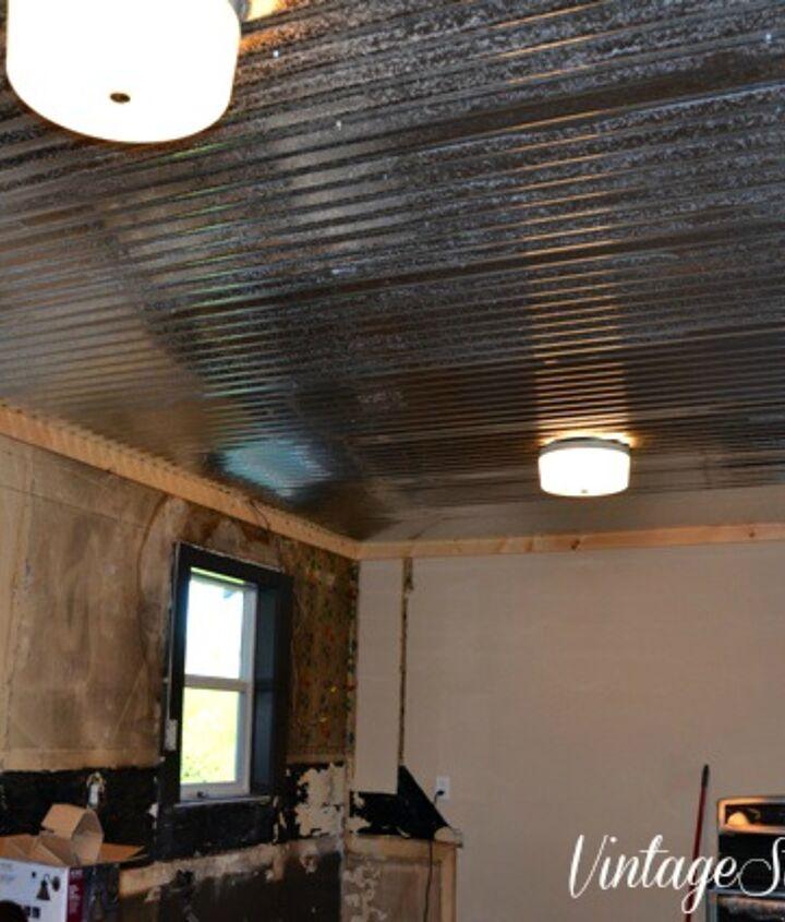 modern farmhouse kitchen ceiling, diy, kitchen design