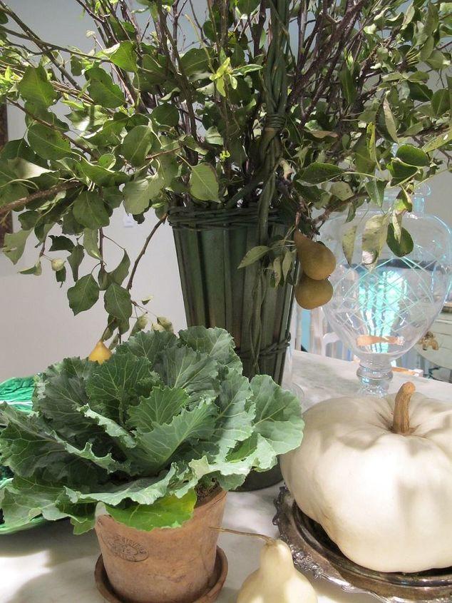fall garden decor white pumpkins moss, gardening, outdoor living