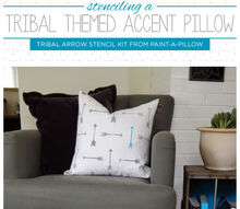 paint a pillow tribal arrow trend, crafts, home decor