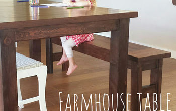 diy farmhouse table tutorial, diy, how to, woodworking projects
