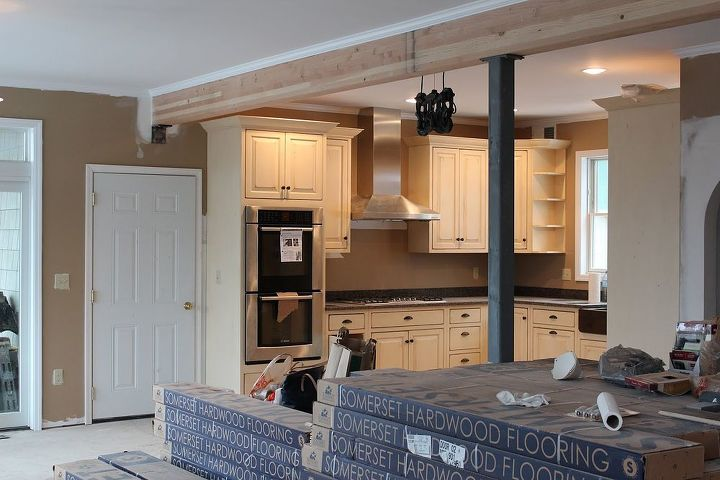 staining aging wood beam, diy, living room ideas, painting, woodworking projects