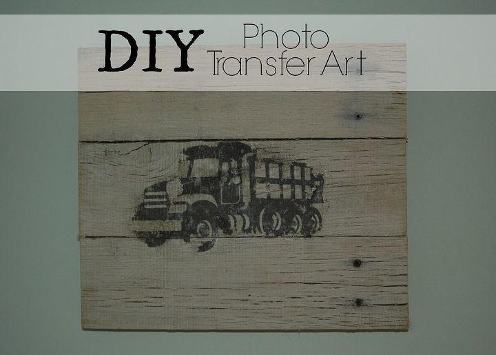 pallet photo transfer art, crafts, pallet, wall decor