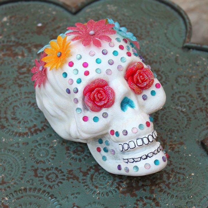crafts sugar skull halloween decorations, crafts, halloween decorations, seasonal holiday decor