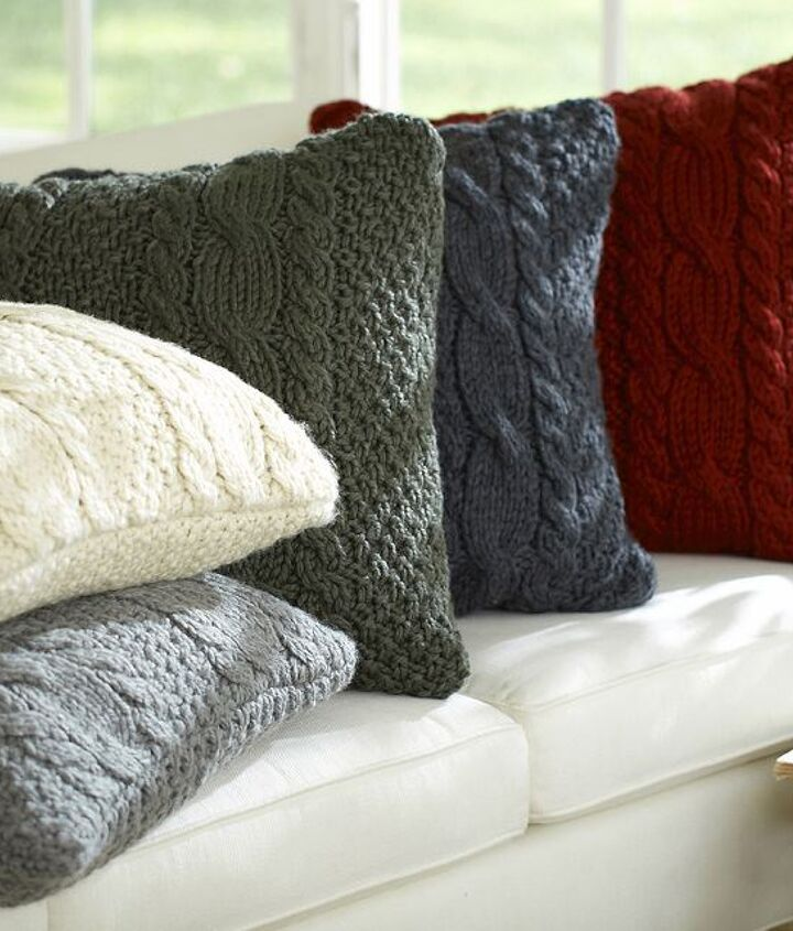 upcycle sweater pillows cover, home decor, how to, repurposing upcycling, reupholster