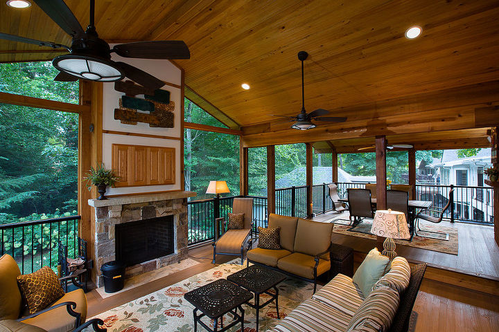 Wooden Deck and Porch Makeover | Hometalk on Living Room Deck id=22490