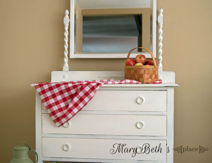 painted furniture antique dresser white country chic, chalk paint, painted  furniture, repurposing upcycling - Painting A White, Country-Chic Look For An Antique Dresser Hometalk