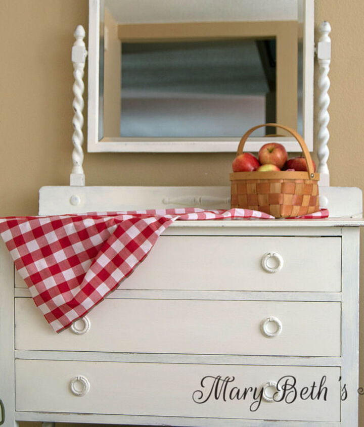 painted furniture antique dresser white country chic, chalk paint, painted furniture, repurposing upcycling