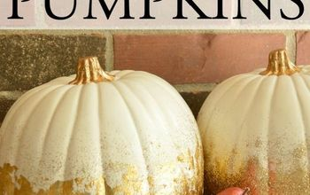 fall decor pumpkins gold leaf glitter, crafts, decoupage, halloween decorations, seasonal holiday decor