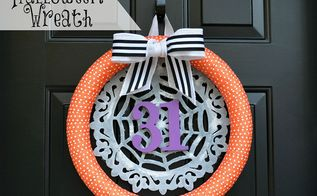 wreath halloween decorations door, crafts, halloween decorations, seasonal holiday decor, wreaths