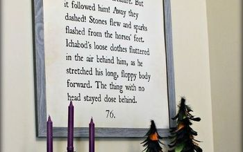 "DIY ""Sleepy Hollow"" Book Page Wall Art"