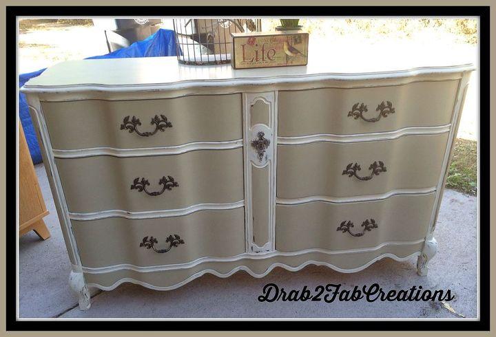 Hand Painted Vintage Buffet Dresser