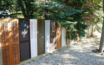 repurposed shutter fence, curb appeal, fences, repurposing upcycling