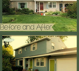 Painting Exterior House Makeover, Curb Appeal, Home Improvement, Paint  Colors, Painting