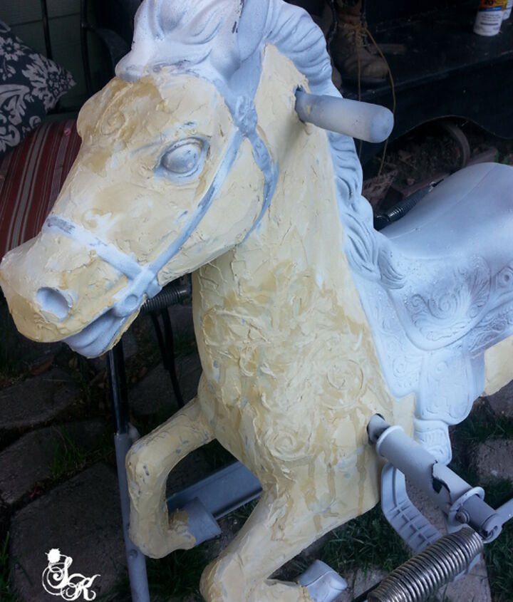 painting spring horse antique, painting, repurposing upcycling