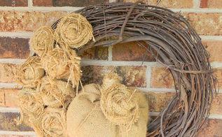 burlap fall wreath, crafts, seasonal holiday decor, wreaths