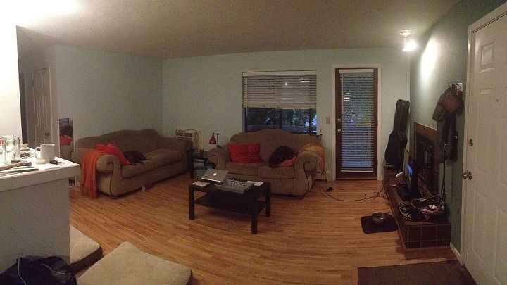 help new living room and couch conundrum, home decor, living room ideas, Panorama from the Dining Room
