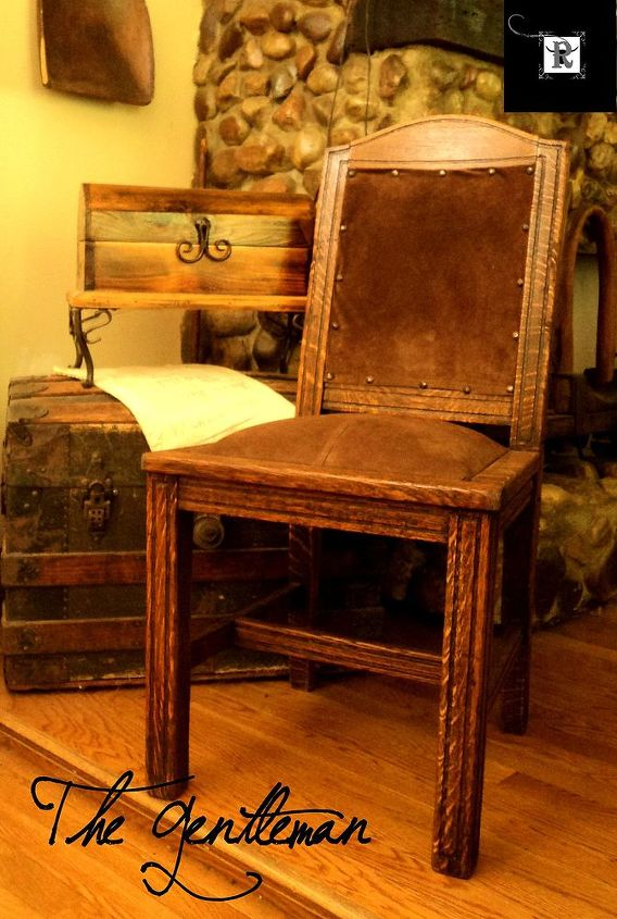 rustic furniture chair upholstery leather wood, repurposing upcycling, rustic furniture, woodworking projects
