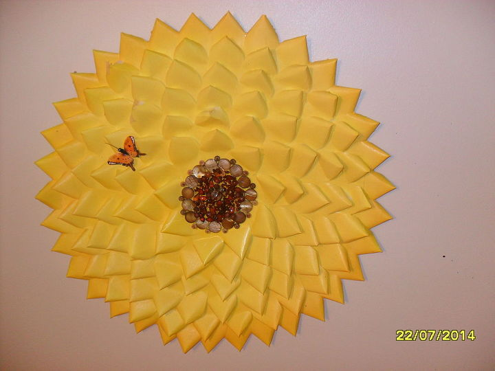 Wall Decor Made From Old Business Cards! | Hometalk