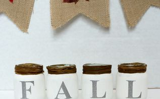craft chalk paint fall baby food jars, chalk paint, crafts, repurposing upcycling, seasonal holiday decor