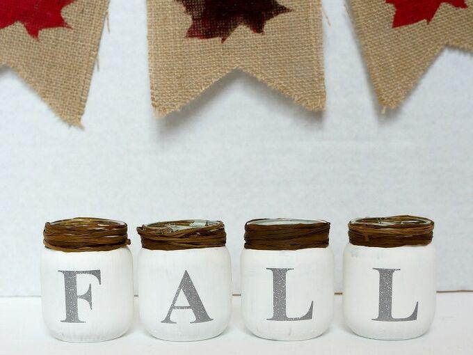 craft chalk paint fall baby food jars, chalk paint, crafts, repurposing upcycling, seasonal holiday decor