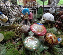 fairy garden collection, gardening, painted furniture