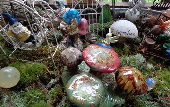 fairy garden collection, gardening, painted furniture
